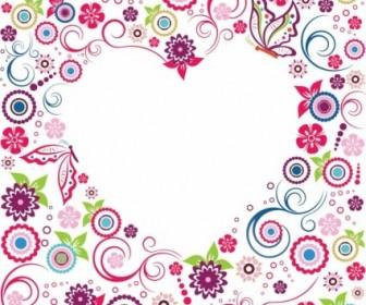 Vector Valentine Flowers Frame Flower Vector Art