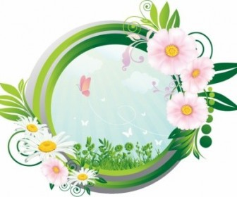 Vector Nature Concept Frame Vector Art