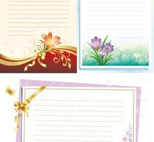 Vector Flowers Stationery Flower Vector Art