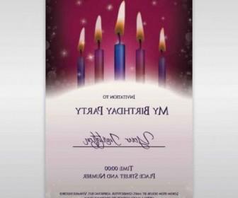 Vector Birthday Invitations Background Vector Art