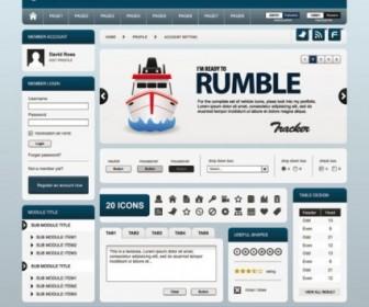 Vector Simple Board Website Template 03 Web Design Vector Graphics