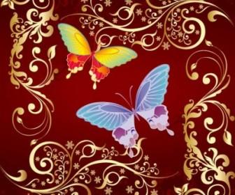 Vector Butterfly Flowers Flower Vector Art