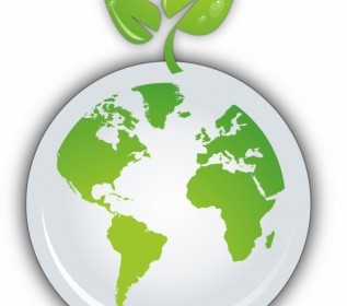 Vector Sprout On Earth Icon Vector Graphics