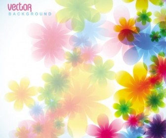 Vector Dream Spring Flowers Background 05 Flower Vector Art