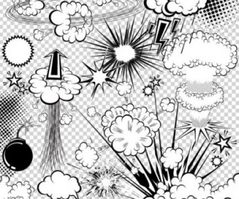 Vector Cartoon Explosion 03 Pattern Vector Art