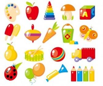 Vector Beautiful Toys For Children 02 Vector Art
