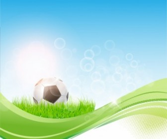 Vector Soccer Flow Background Sport Vector Graphics