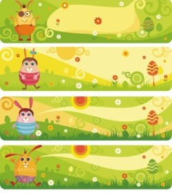 Vector Cute Cartoon Banner03vector Vector Banner