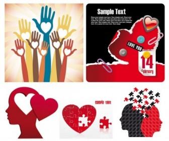 Vector Valentine Day Creative Element Heart Vector Art