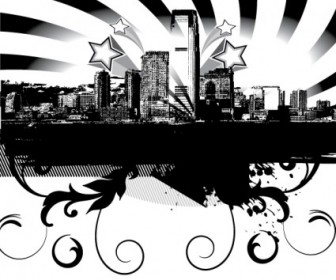 Vector City Skyline Landscape Vector Graphics