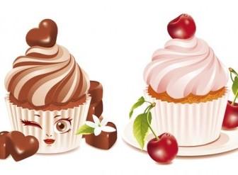 Vector Dessert Cake Vector Art