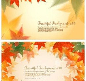 Vector 2 Maple Leaf Background Vector Art