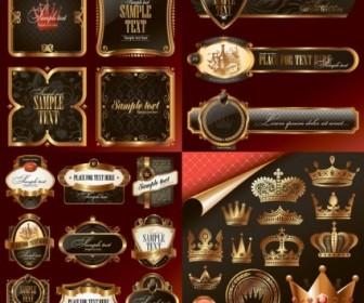 Vector Luxury Label Design Elements Vector Art