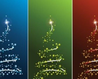 Vector STYLIZED VECTOR CHRISTMAS TREE SET Christmas Vector Graphics