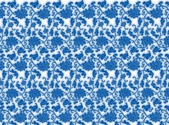 Vector Blue And White Porcelain Seamless Background Vector Art