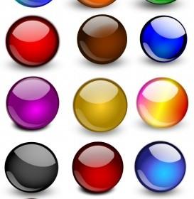 Vector Glossy Orbs/Balls 2 Vector Clip Art