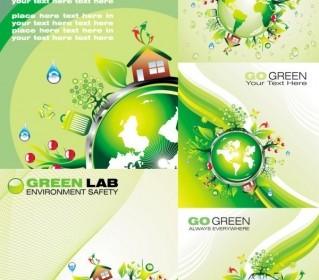 Vector Green Polar Coordinates Cartoon Vector Art