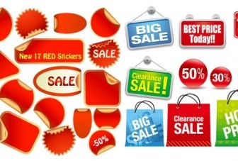Vector 2 Sets Of Sales Icon Vector Graphics