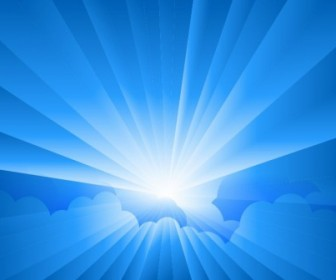 Vector Sun Burst With Rays Form Clouds Vector Art