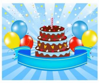 Vector Happy Birthday Announcement Vector Art