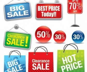 Vector Shopping Sales Theme Vector Art