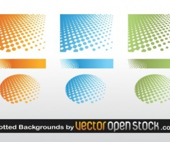 Vector Dotted Background Vector Art