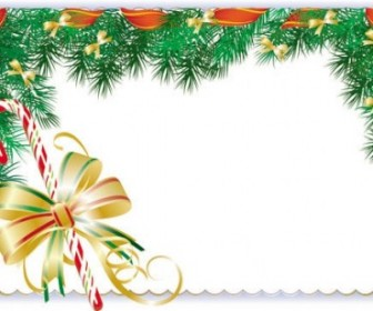 Vector Elements Border 01 Christmas Vector Graphics