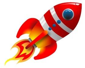 Vector Retro Rocket Vector Art