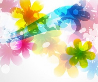 Vector Of Abstract Colorful Background Flower Vector Art