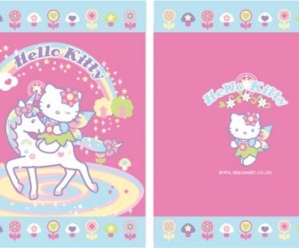 Vector Kitty With Pink Unicorn Vector Art