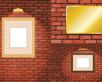Vector Brick And Frame Vector Art