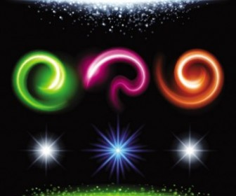Vector Gorgeous Bright Lighting Effects 06 Vector Art