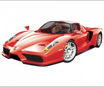 Vector Ferrari Enzo Car Vector Art