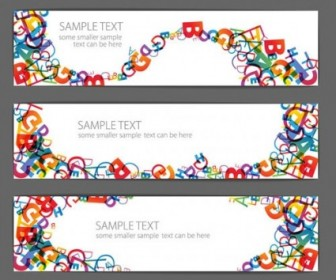 Vector Beautiful Letter Vector Banner