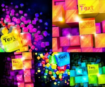 Vector Colorful Cube Background Vector Art