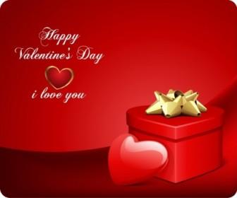 Vector Valentine's Day Card Heart Vector Art