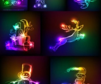 Vector Symphony Of Light Christmas Vector Graphics