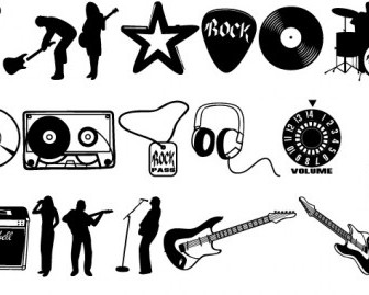 Vector Rock Set Vector Art