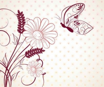 Vector Beautiful Flower Background Vector Art