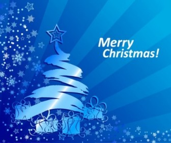Vector Blue Christmas Background Illustration Abstract Vector Graphics