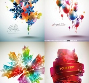 Vector Beautiful Dynamic Background Vector Art
