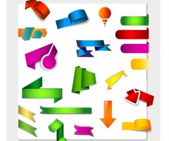 Vector Internet Text Banners Origami Style Web Design Vector Graphics