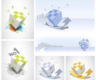 Vector Rubik Cube Theme Vector Art