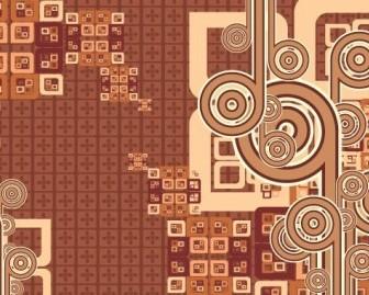 Vector Cool Brown Background Vector Art
