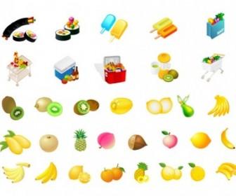 Vector Fruit Diet Vector Art
