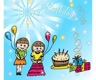 Vector Happy Birthday Vector Art