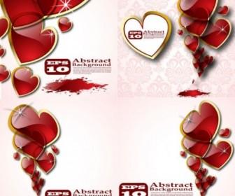 Vector Beautiful Crystal Heart Vector Art