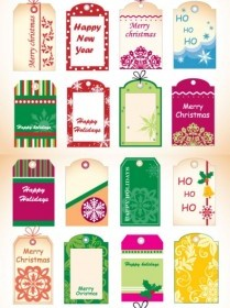 Vector Tag Christmas Vector Graphics