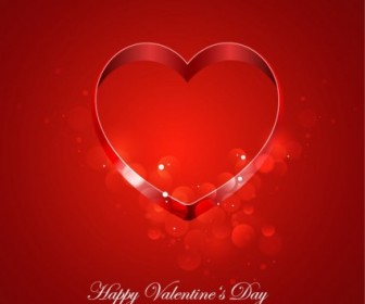 Vector Card For Valentine Day With Heart Vector Art