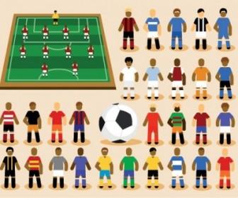 Vector Soccer Cartoon Vector Art